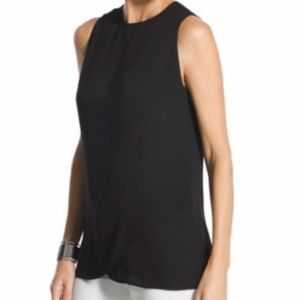 Chico's women's black sleeveless blouse